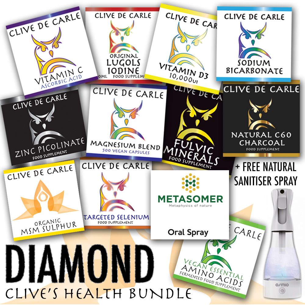 Clive De Carle's Health Store Order yours here